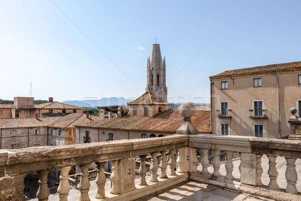 Középkori negyed Spanyolország ház épület nyár Stock fotó © Alex9500