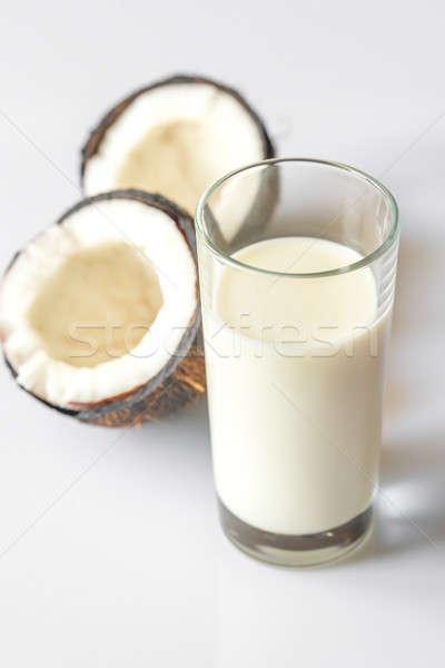 стекла кокосовое молоко продовольствие сломанной свободный жидкость Сток-фото © Alex9500