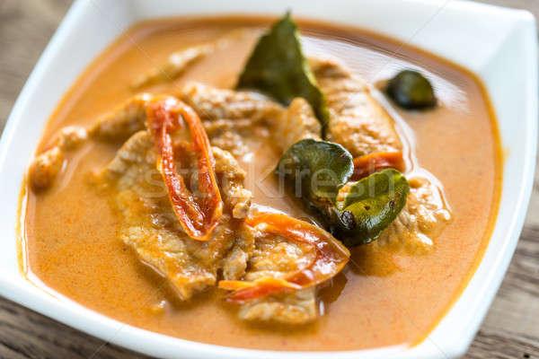 Tajska curry wieprzowina żywności zielone czerwony Zdjęcia stock © Alex9500