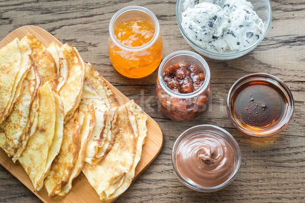 Crepes with different options of toppings Stock photo © Alex9500
