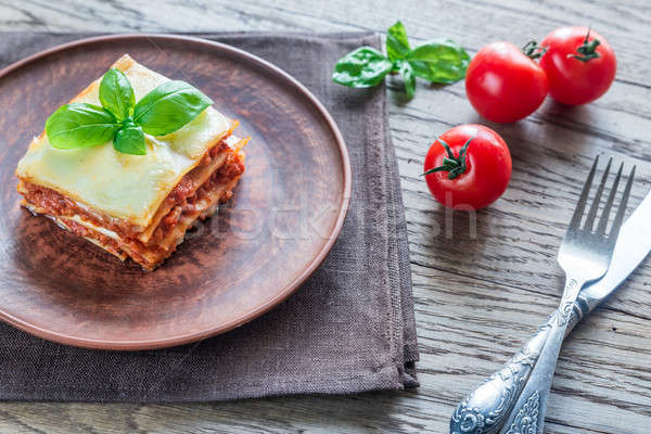 Portion of classic lasagne Stock photo © Alex9500