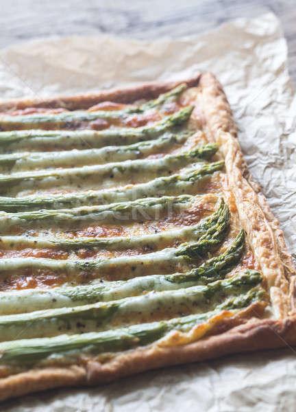 Espárragos tarta verde petróleo comer pie Foto stock © Alex9500