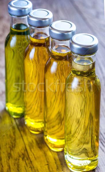 Bouteilles différent légumes pétrolières tournesol groupe Photo stock © Alex9500