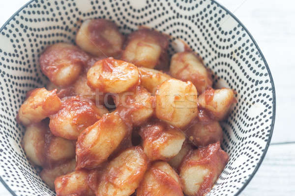 Potato gnocchi in tomato sauce Stock photo © Alex9500