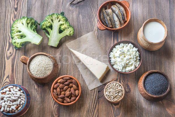 Alimentaire riche calcium fitness lait pavot Photo stock © Alex9500