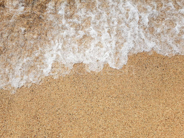 óceán hullám homokos tengerpart fény tenger űr kék Stock fotó © Alex9500