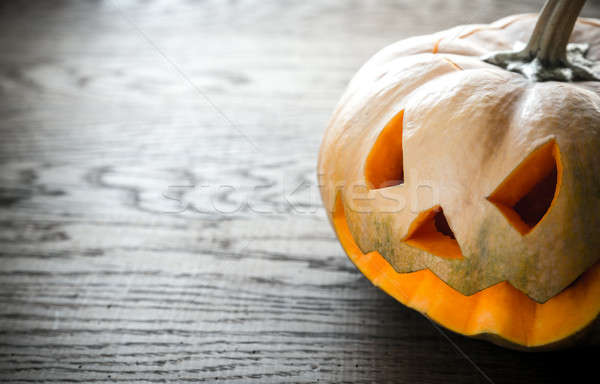 Scary halloween pumpkin Stock photo © Alex9500