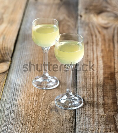 Stock photo: Two olive martini cocktails
