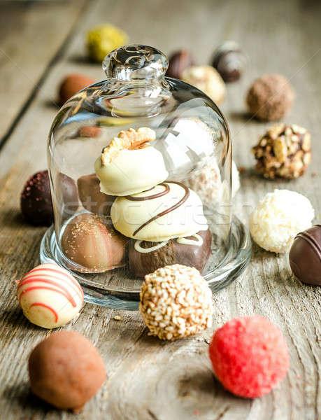 Luxury chocolate candies Stock photo © Alex9500