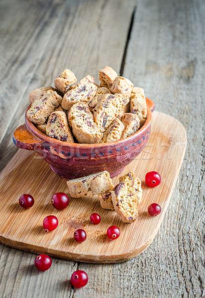 сушат клюква красный свежие Sweet макроса Сток-фото © Alex9500