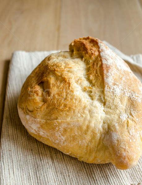 ローフ 白パン 木製のテーブル 表 パン 小麦 ストックフォト © Alex9500