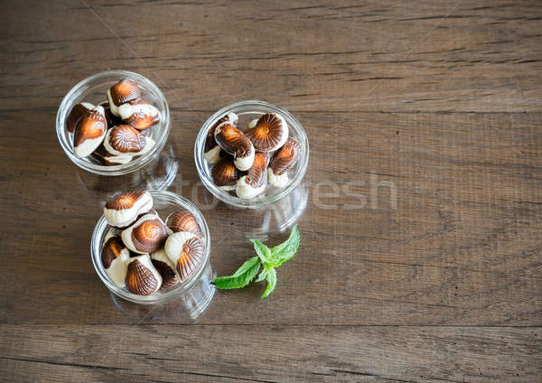 Seashells chocolates Stock photo © Alex9500
