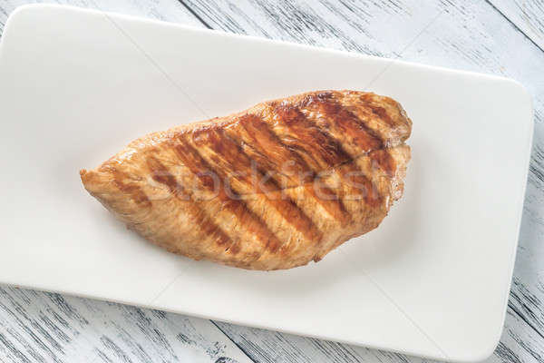 Grilled turkey breast on the plate Stock photo © Alex9500