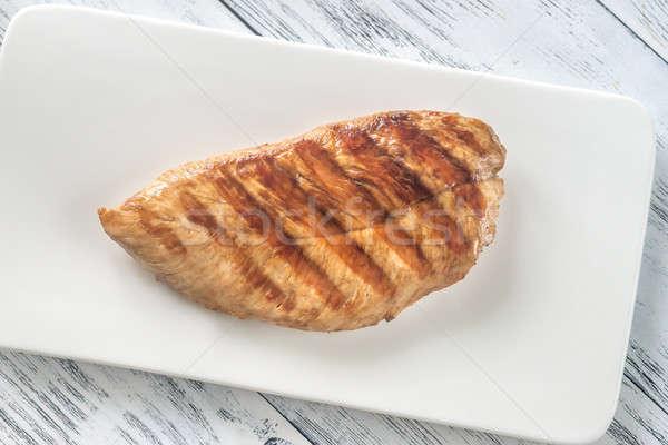 Grillezett mell tányér tyúk vacsora hús Stock fotó © Alex9500