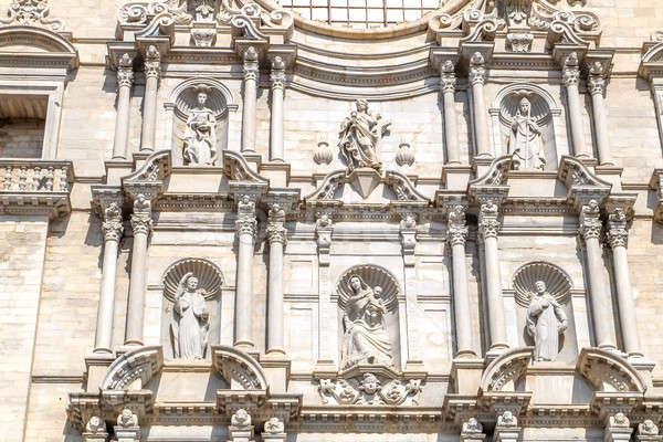 Girona Cathedral Facade Stock Photo C Oleksandr Prokopenko Alex9500