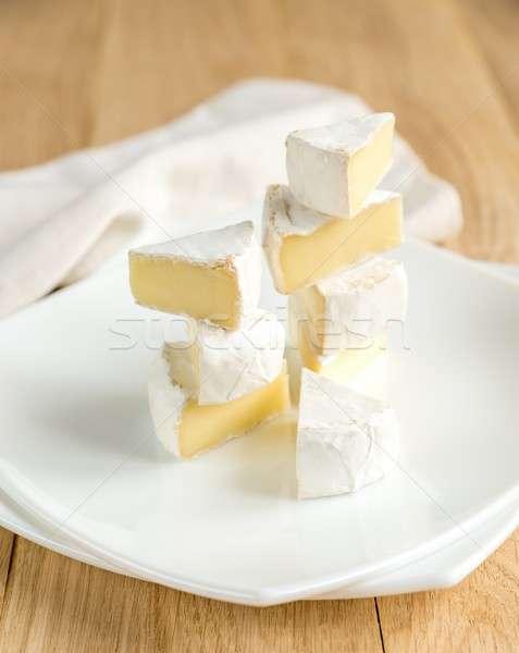 Fatias queijo camembert prato comida café da manhã estúdio Foto stock © Alex9500