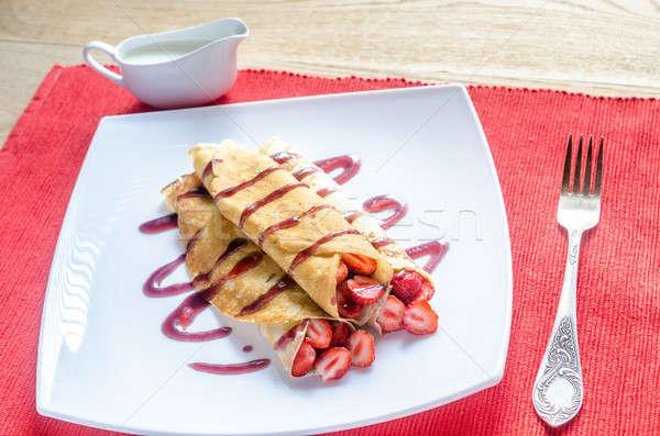Friss eprek étel háttér étterem tányér Stock fotó © Alex9500