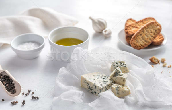 Appetizer with blue cheese and croutons Stock photo © Alex9500
