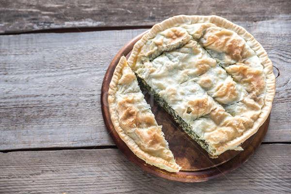 Spanakopita - Greek spinach pie Stock photo © Alex9500