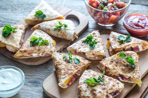 ストックフォト: チーズ · 辛い · 鶏 · 野菜 · 異なる · 食品