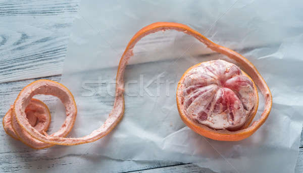 Geschält Grapefruit Tabelle Essen Kreuz tropischen Stock foto © Alex9500