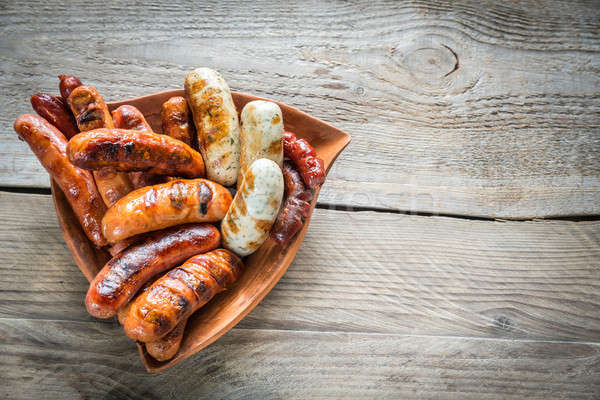 Grilled sausages Stock photo © Alex9500