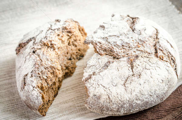Zwarte rogge brood tabel tarwe ontbijt Stockfoto © Alex9500