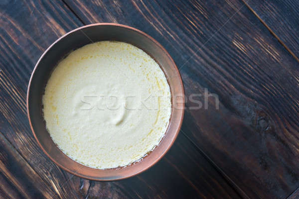 Bowl of alfredo - Italian pasta sauce Stock photo © Alex9500