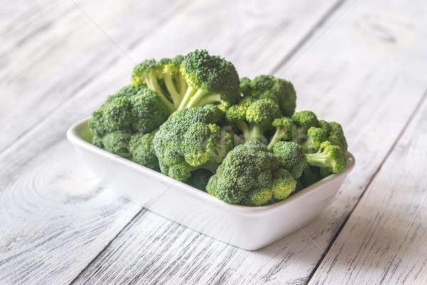 Taze brokoli beyaz çanak gıda yeşil Stok fotoğraf © Alex9500