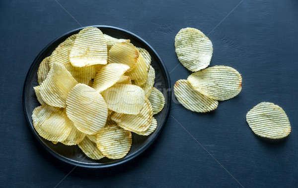Potato chips in the bowl Stock photo © Alex9500