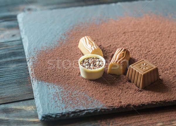 çikolata gıda şeker karanlık beyaz Stok fotoğraf © Alex9500