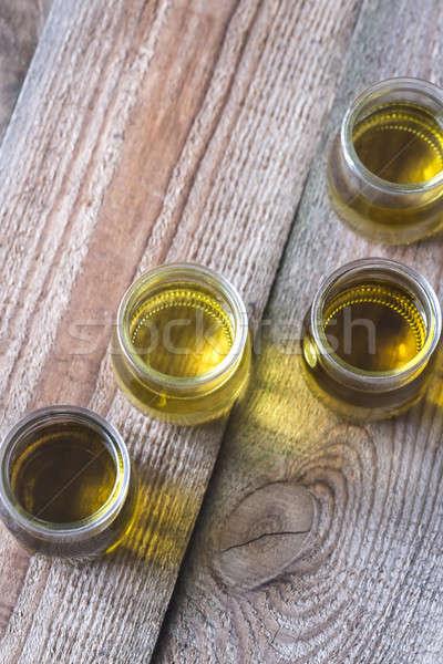 Glas verschillend moer olie achtergrond groep Stockfoto © Alex9500