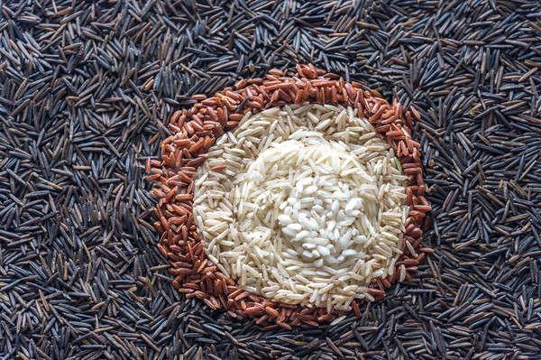 Farklı pirinç üst görmek grup kırmızı Stok fotoğraf © Alex9500
