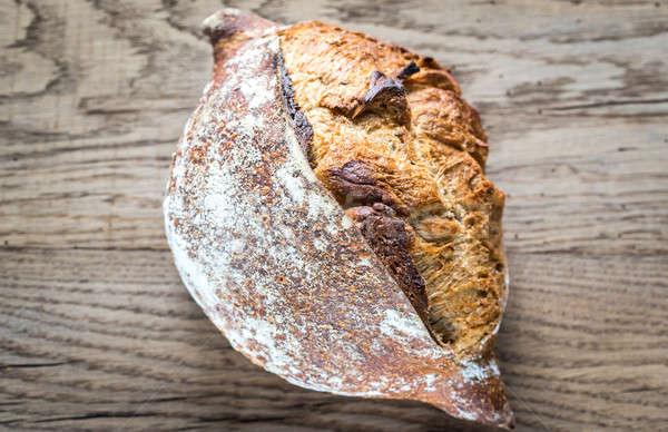Teljes kiőrlésű kenyér fából készült háttér búza sötét Stock fotó © Alex9500