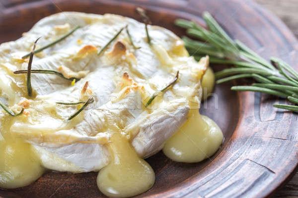 Camembert queso mesa petróleo placa Foto stock © Alex9500