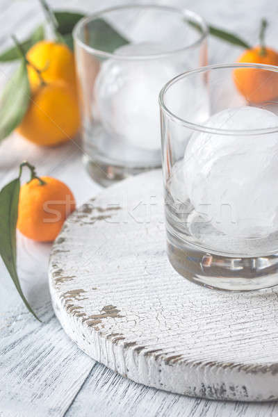 Two glasses with ice Stock photo © Alex9500