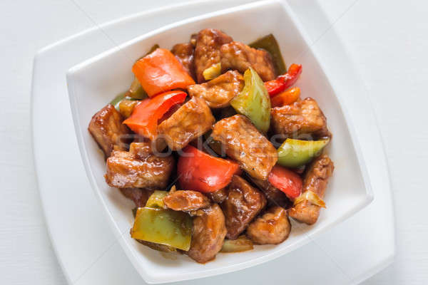 Sweet and sour pork Stock photo © Alex9500