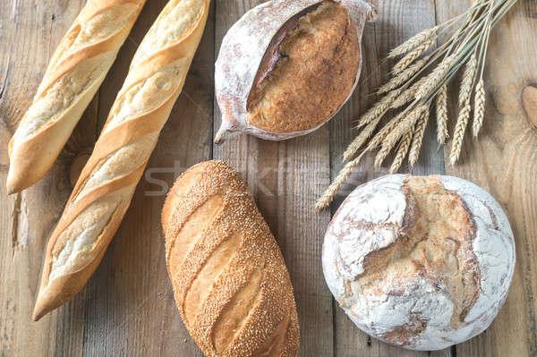 Farklı ekmek ahşap buğday kahvaltı stüdyo Stok fotoğraf © Alex9500