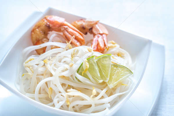 Rice noodles with shrimps and bean sprouts Stock photo © Alex9500