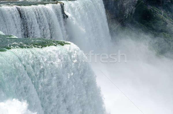 Foto d'archivio: Cascate · del · Niagara · natura · barca · rosso · velocità · potere