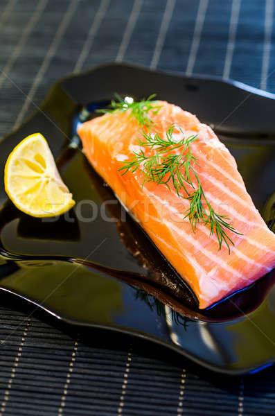 Salmon steak Stock photo © Alex9500