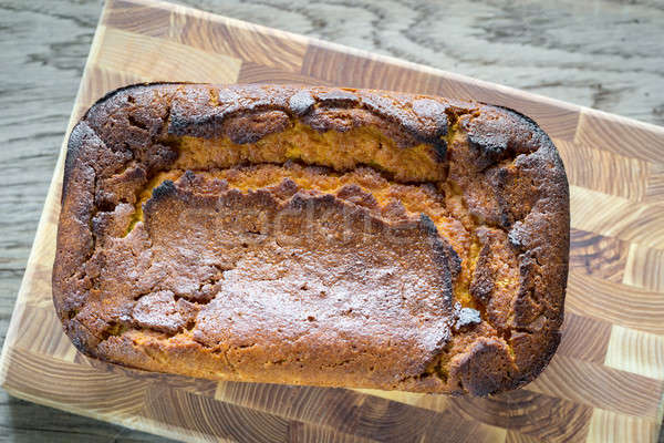Loaf of pumpkin bread on the wooden board Stock photo © Alex9500