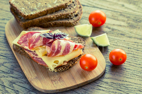 Sandwich with  ham and cheese Stock photo © Alex9500