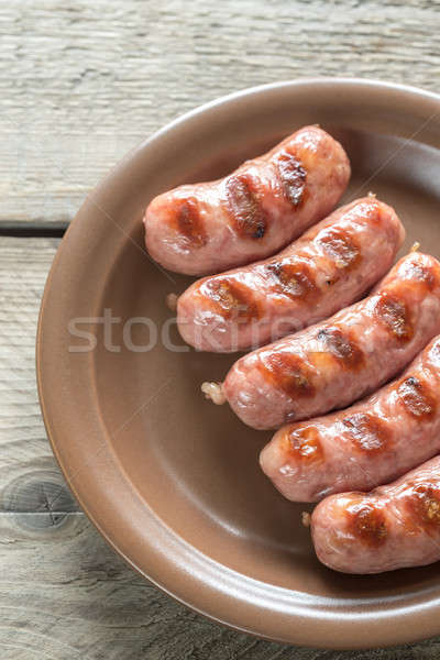 Portion of grilled sausages Stock photo © Alex9500