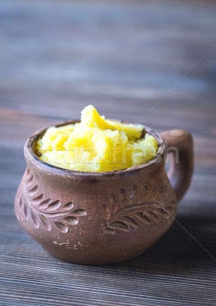 Kom boter voedsel tabel melk koken Stockfoto © Alex9500
