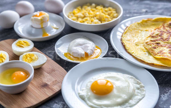 Different ways of cooking eggs Stock photo © Alex9500