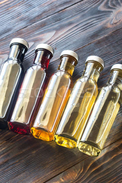 Bottles with different kinds of vinegar Stock photo © Alex9500