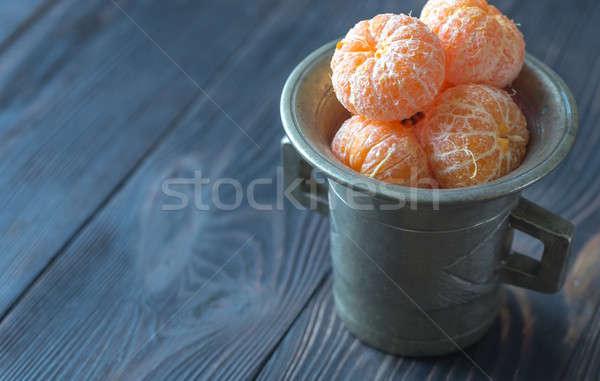 Geschält Jahrgang Tasse Hintergrund orange Tabelle Stock foto © Alex9500