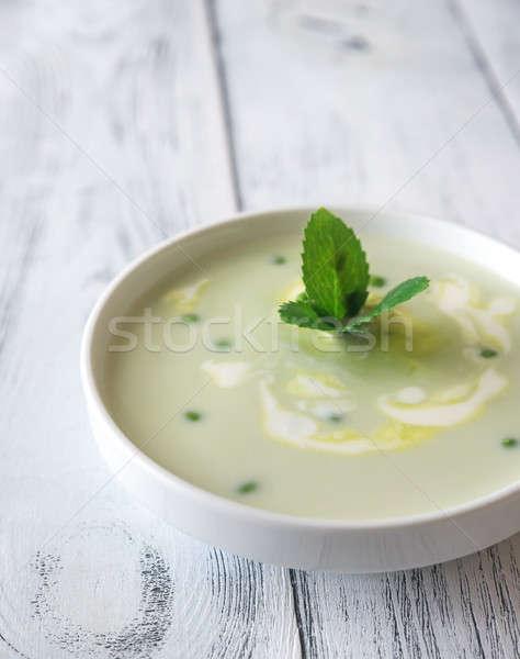 Porción crema sopa alimentos fondo almuerzo Foto stock © Alex9500