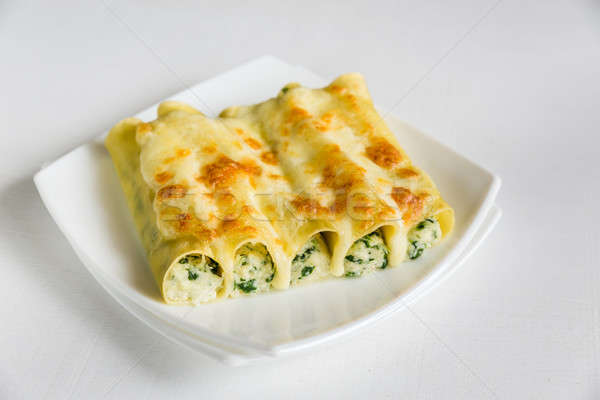 Cannelloni with ricotta and spinach Stock photo © Alex9500